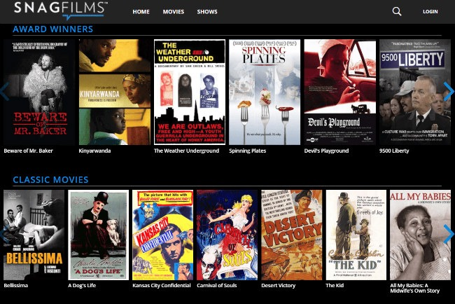 SnagFilms - Best Free Movie Streaming Site