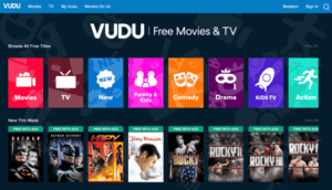vudu- free tv streaming website