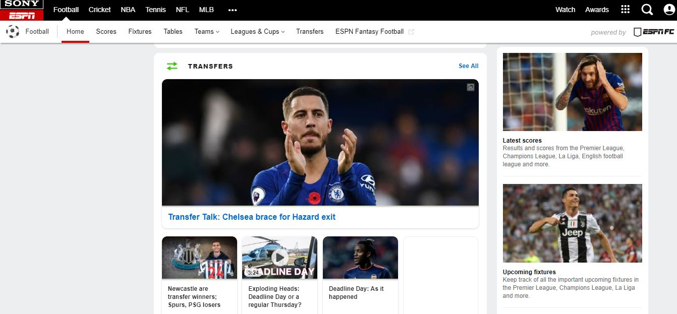 ESPN - Sports Streaming Site