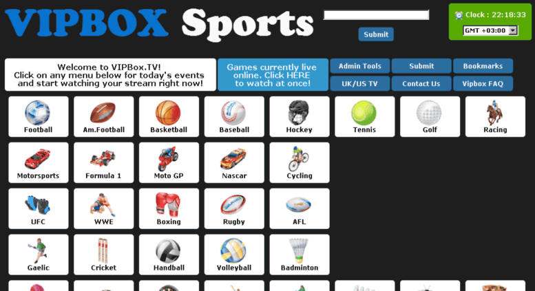 vipbox - sports watch online
