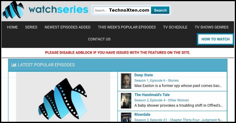 Watchseries Website