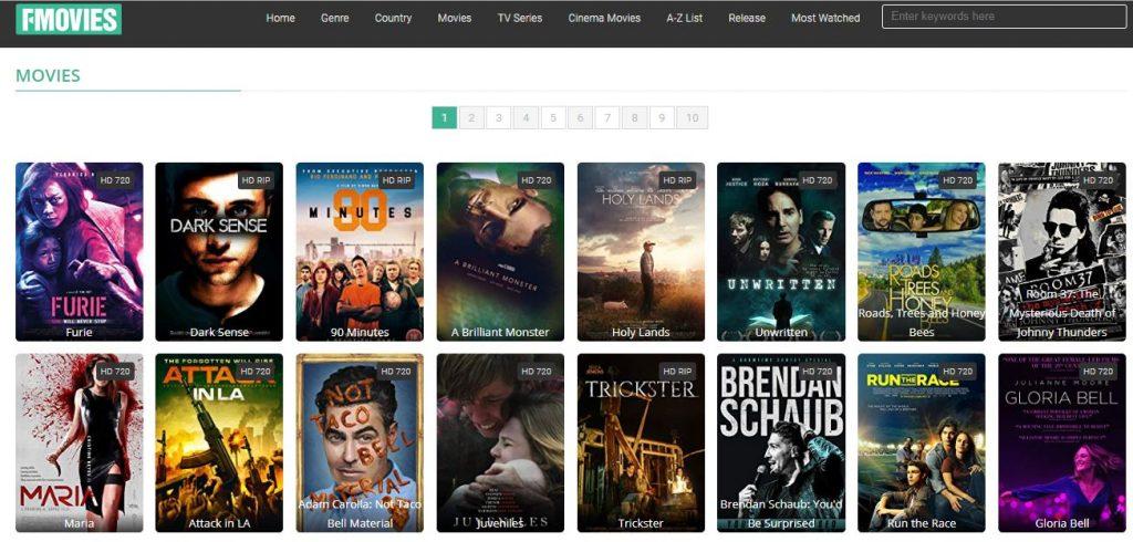 online watch movies sites list