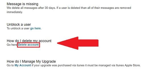 steps to delete my POF account